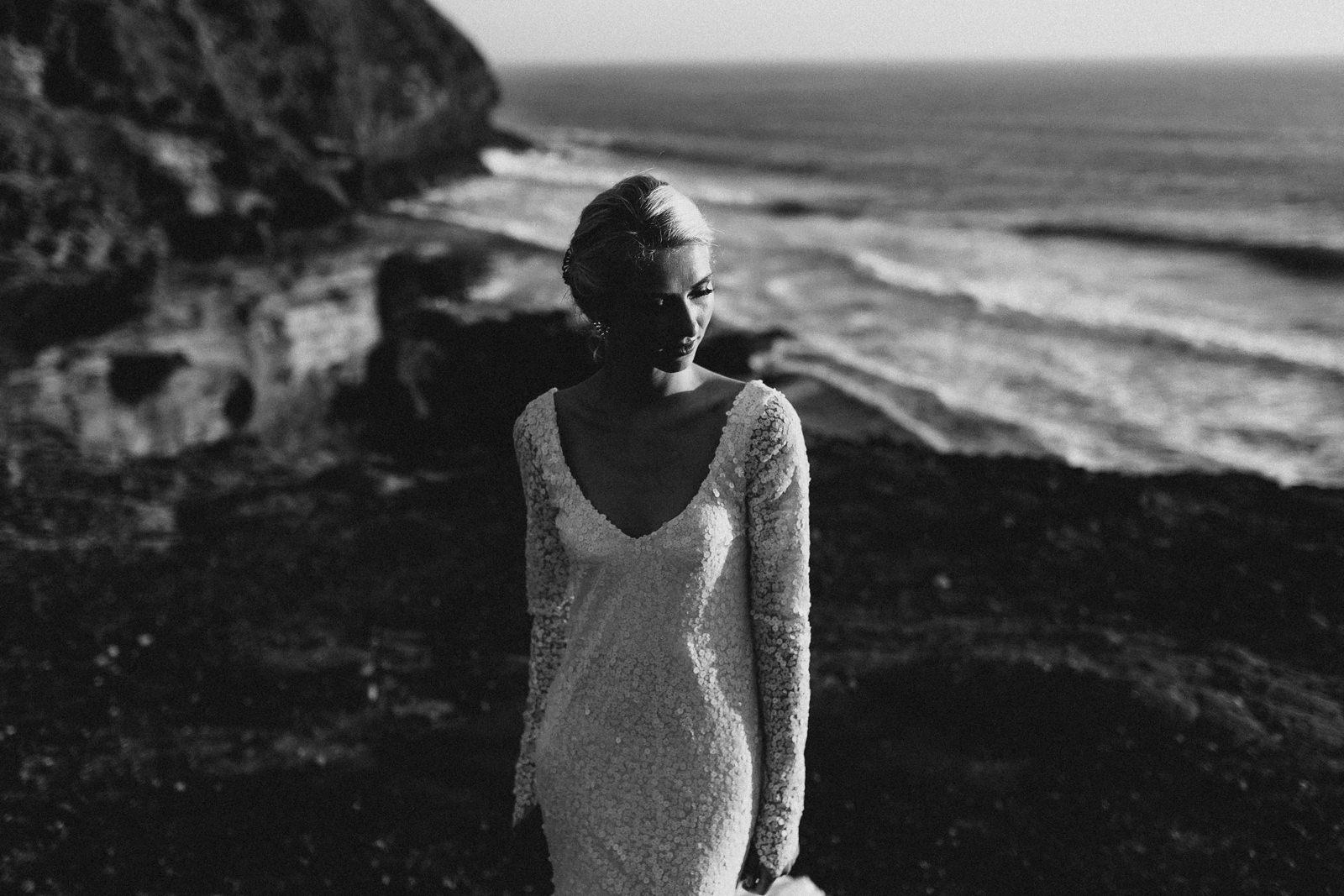 wedding photographer cliffs new zealand
