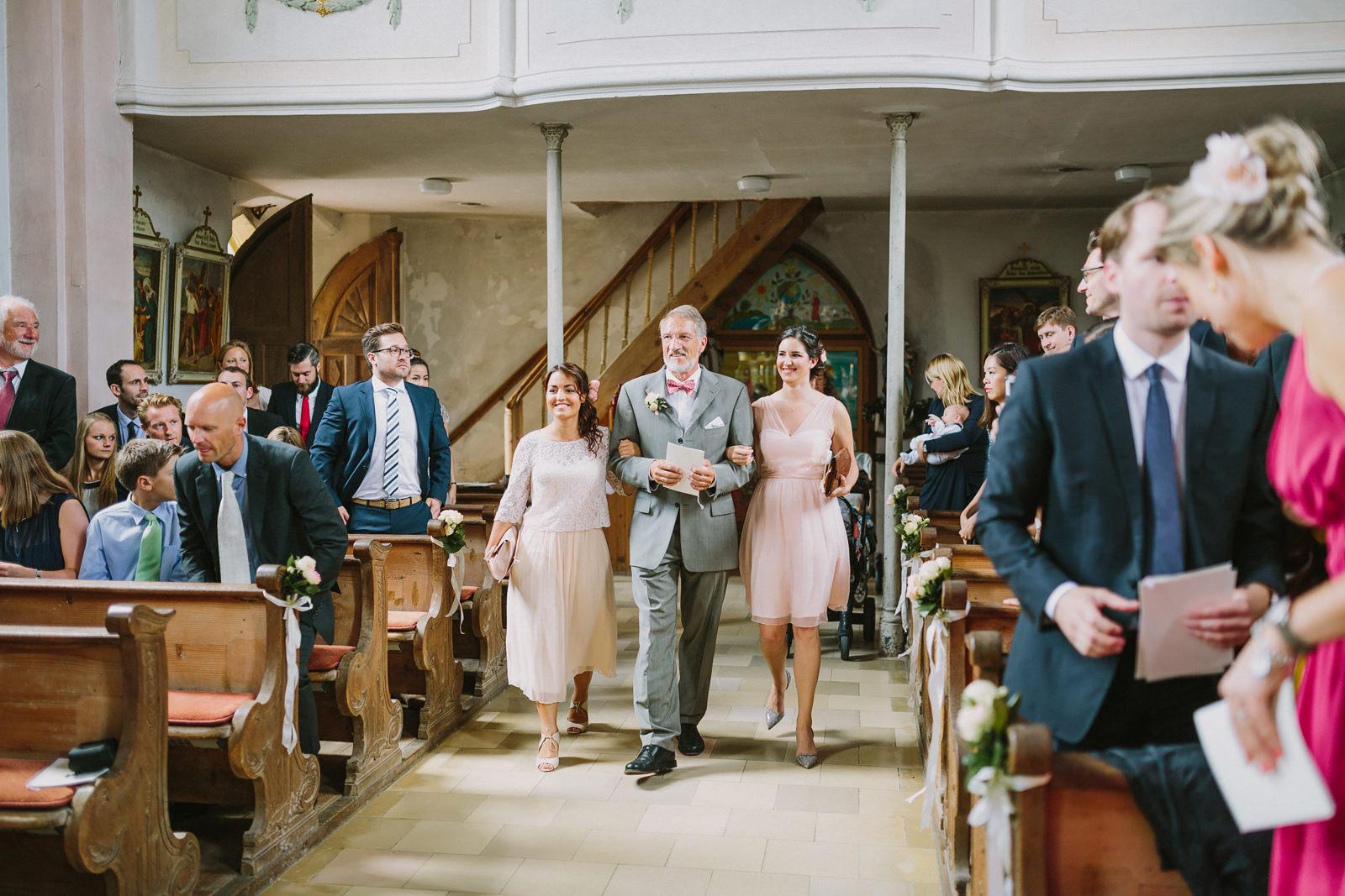 church entrance wedding