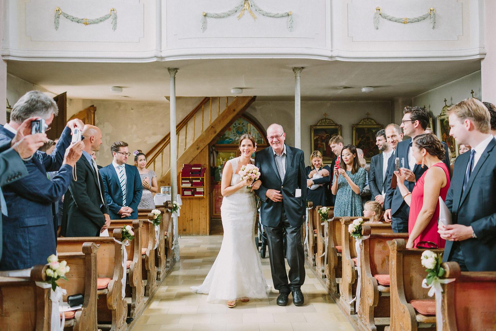bride entrance church munich