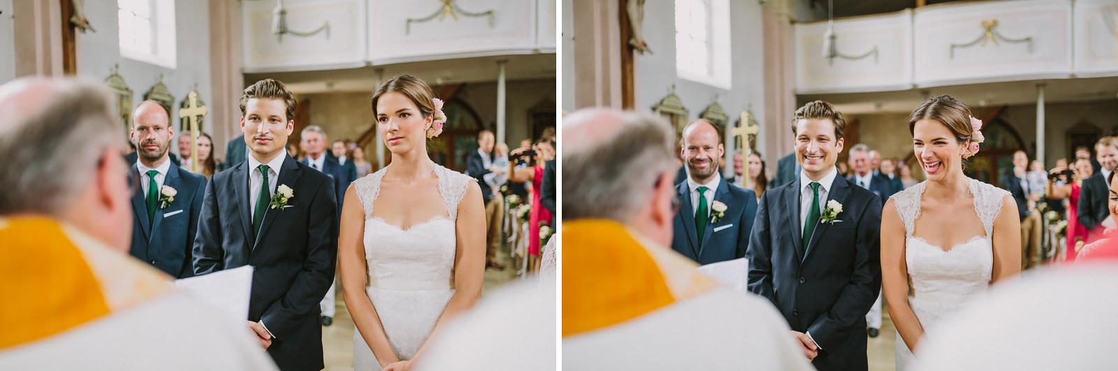 wedding church germany laugh