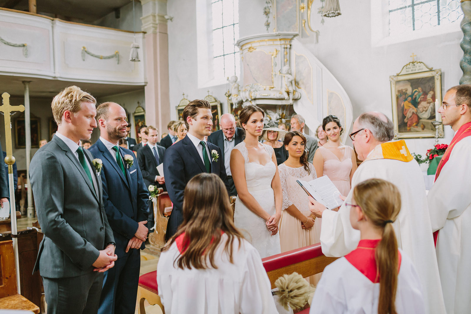 traditional church wedding ceremony in germany