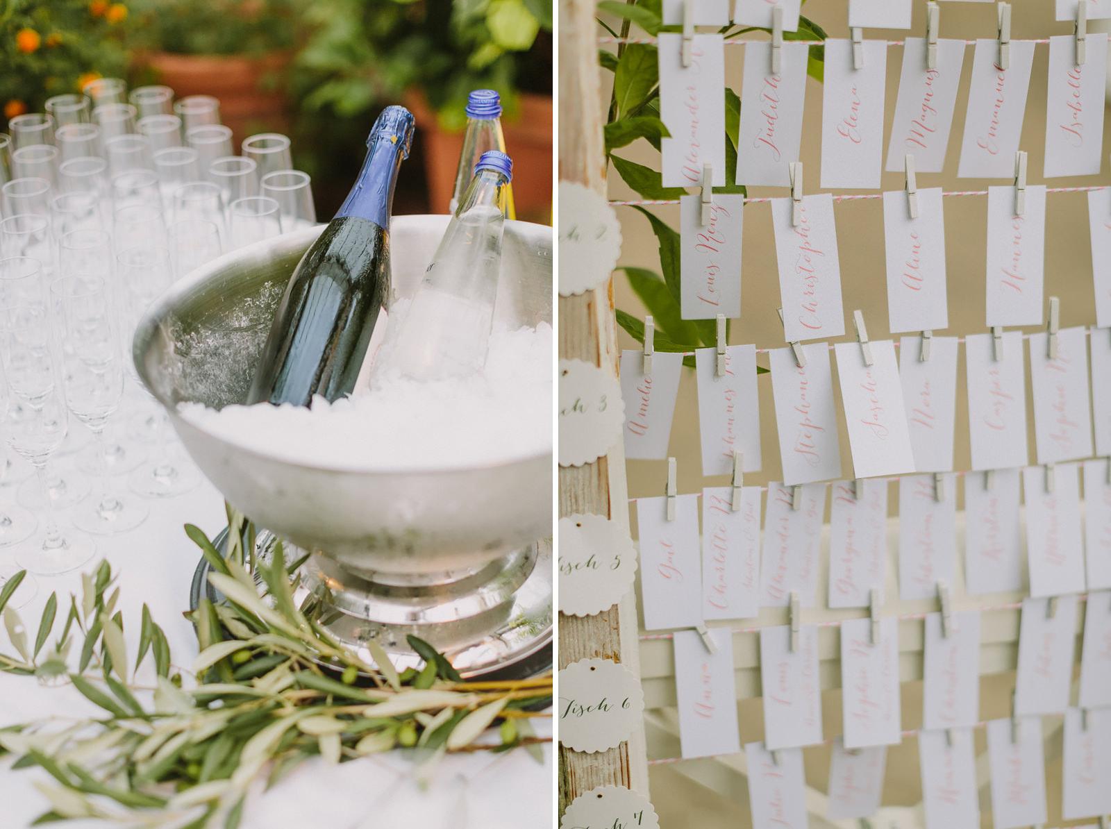 wedding details munich table