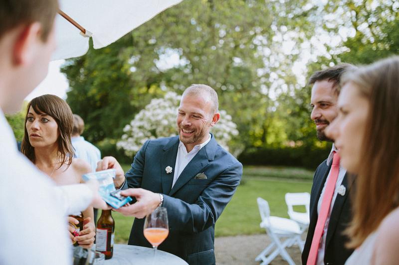 outdoor wedding guests